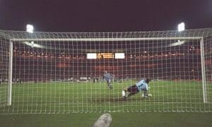 The decisive spot-kick during Euro 96