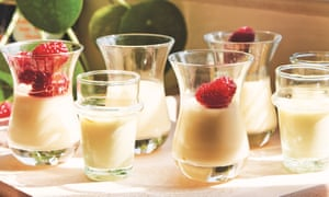 Lemon and saffron posset. Taken from Honey & Co. At Home by Itamar Srulovich & Sarit Packer. 20 best easy puddings.
