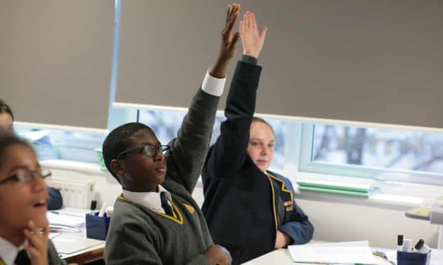 Pupils at Michaela school.