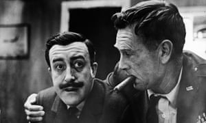 Absurdified horror … Peter Sellers and Sterling Hayden.