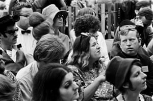 'Woodstock was about the weather and the number of people – Monterey was about the music' … Cass Elliot of The Mamas and the Papas in the audience.