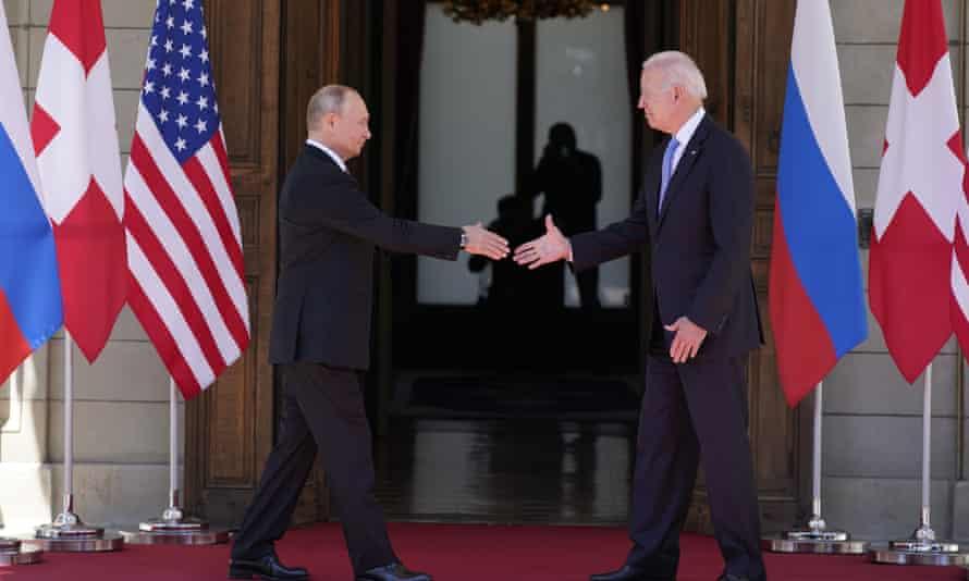 Joe Biden, right, and Vladimir Putin