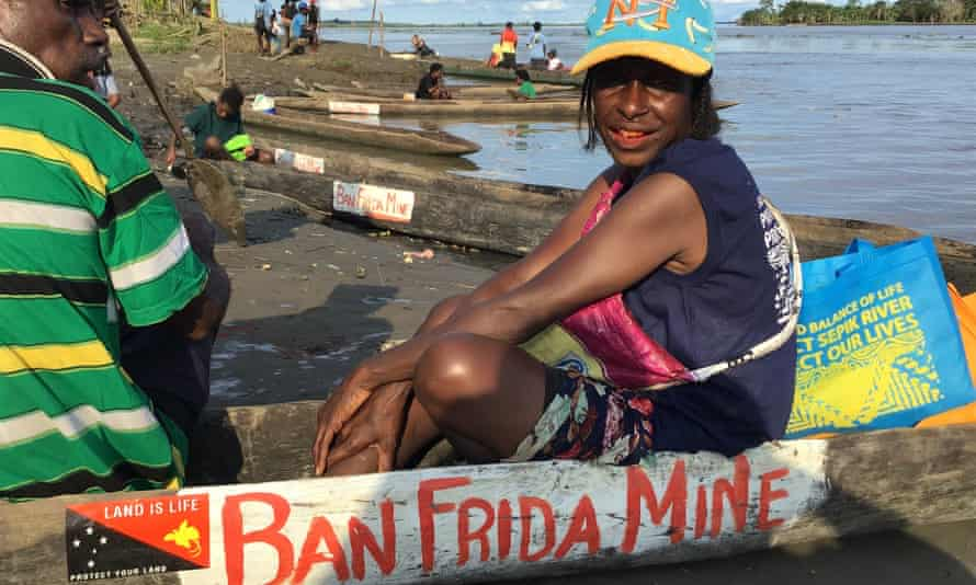 The proposed Frieda River mine has been the subject of protests by residents of the Sepik River valley, downstream from the mine site.