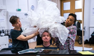 'Stop trying to be in control' … Phelim McDermott in rehearsal for Tao of Glass.