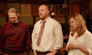 Steve Buscemi as Pete, Louis CK as Horace and Edie Falco as Horace's sister Sylvia in Horace and Pete.