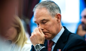 EPA chief Scott Pruitt testifies before a House Appropriations Committee Interior, Environment, and Related Agencies Subcommittee hearing in the Rayburn House Office Building in Washington, DC USA, 26 April 2018.