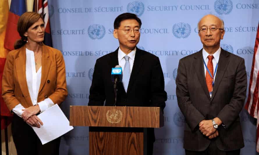 Samantha Power, Hahn Choong Hee and Koro Bessho