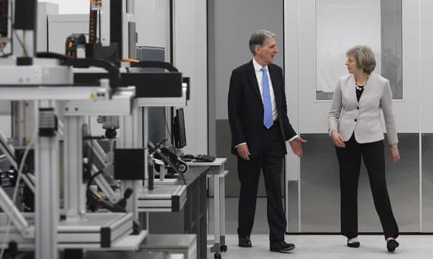 The morning after the autumn statement, chancellor Philip Hammond and PM Theresa May visited Renishaw's innovation and engineering plant in Wooton, south-west England.