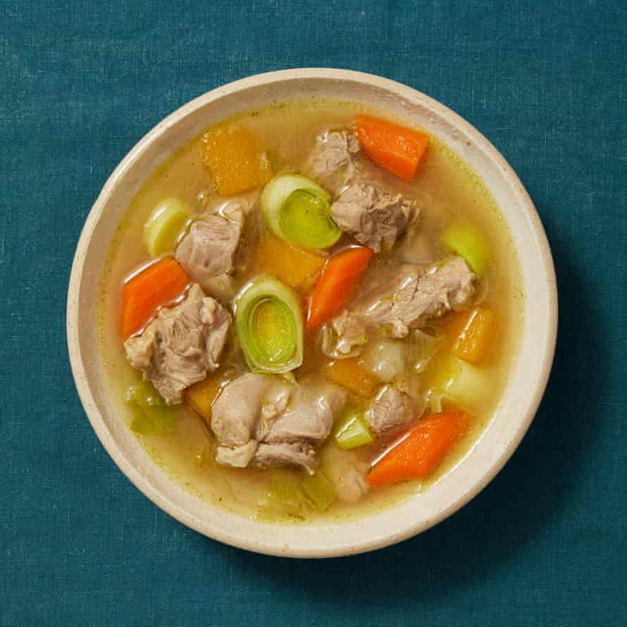 Tommy Heaney's cawl. In Welsh, the word refers to any soup or broth. In English, it means this traditional Welsh soup, often referred to as cawl Cymreig, and as 'lobscows' in areas of north Wales.