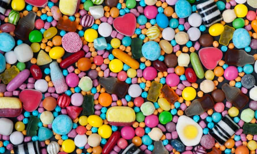 Sweets, with chocolate, account for 11% of all the sugar eaten by 11-18-year-olds in the UK.