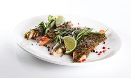 Fish dish at Sahli in Moscow.