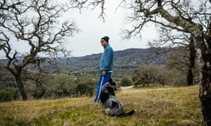 Jim Wilson, an environmental activist and a co-writer of Measure C, on his land in Napa.