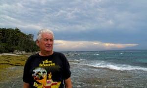 Film-maker Attila Kaszo at the NSW-state-run Jervis Bay marine park.