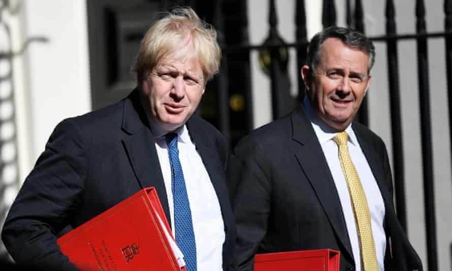 Brexiters Boris Johnson and Liam Fox