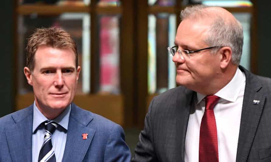 Christian Porter, and the prime minister,  Scott Morrison