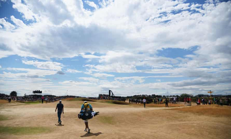 The Carnoustie fairways were arid during the Open Championship