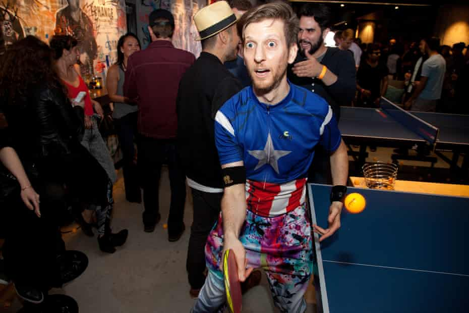 Adam Bobrow plays at the Spin San Francisco Grand Opening in 2016.