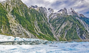 Franz Josef glacier on the west coast of New Zealand's South Island is a major tourist attraction but local people resent some government policies.