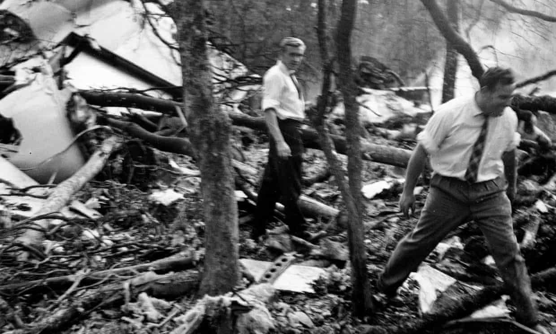 Plane with Dag Hammarskjold shot down