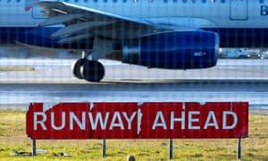 aircraft landing at Heathrow airport