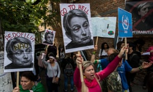 Ambushed … protests against the visit of gender theorist Judith Butler.