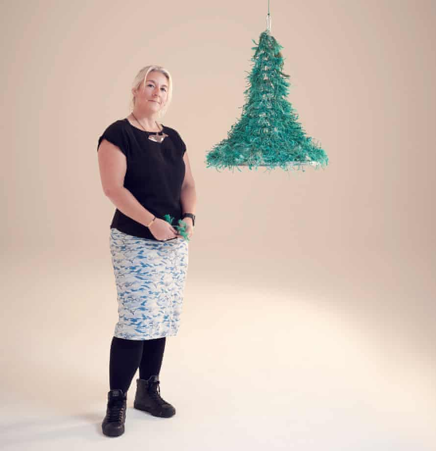 'My collapsible tree hangs, so it's a brilliant space-saver': Claire Potter.