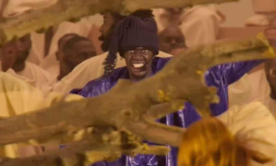 Random shrieking and bellowing … Sheck Wes in Kanye West's opera Nebuchadnezzar.