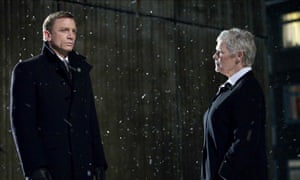 As M, with Daniel Craig in Quantum of Solace.