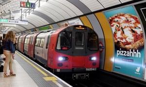 A TfL tube train