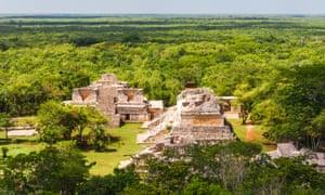 Maya ruins on the Yucatan peninsula, Mexico.
