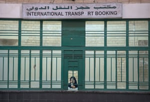Few queues … the international ticket hall in Baghdad train station.