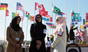 Women at the Muslim convention Jalsa Salana in the UK