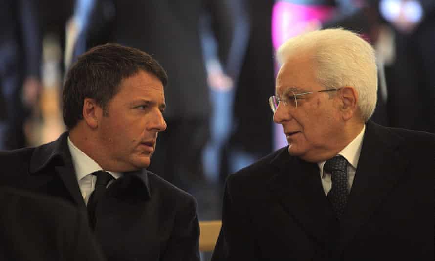 Matteo Renzi with President Sergio Mattarella in November.