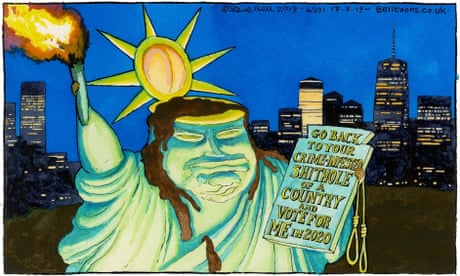 Steve Bell on Donald Trump's attacks on congresswomen – cartoon