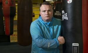 Bradley Welsh in his boxing gym, Edinburgh, 2015.
