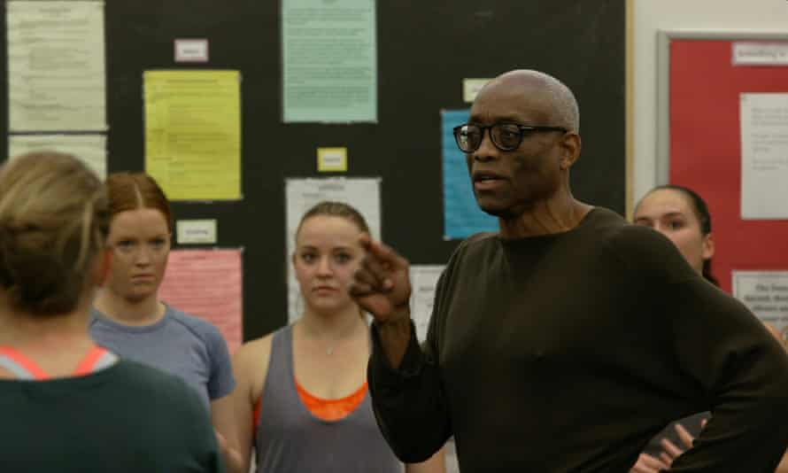 Bill T. Jones in rehearsal with students