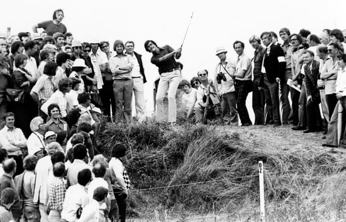 Seve Ballesteros during the 1976 Open at Royal Birkdale.