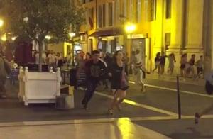 People flee the scene.