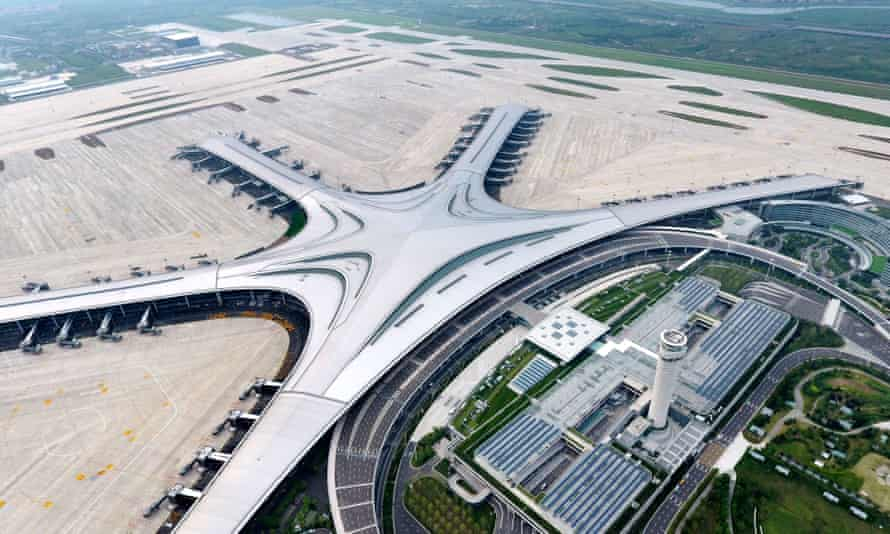 Qingdao Jiaodong airport in Shandong province, China.