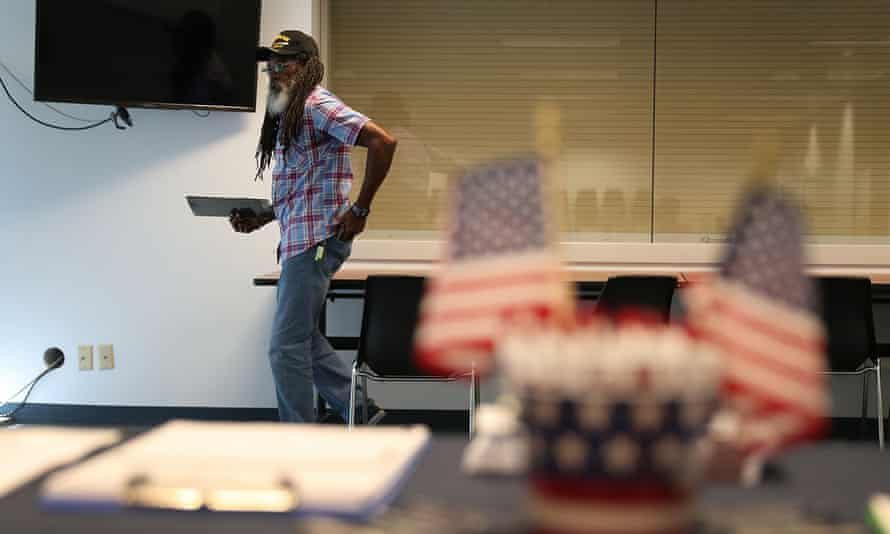 Clarence Singleton registers to vote in Fort Myers, Florida, last year, after a constitutional amendment restored voting rights to people with felony convictions.