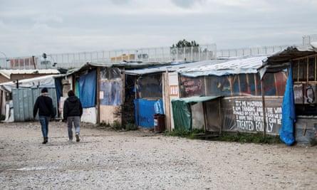 The main street at the Calais refugee camp