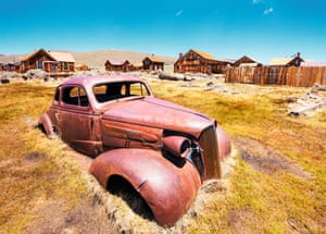 Rusting car in Bodie State Historic Park California