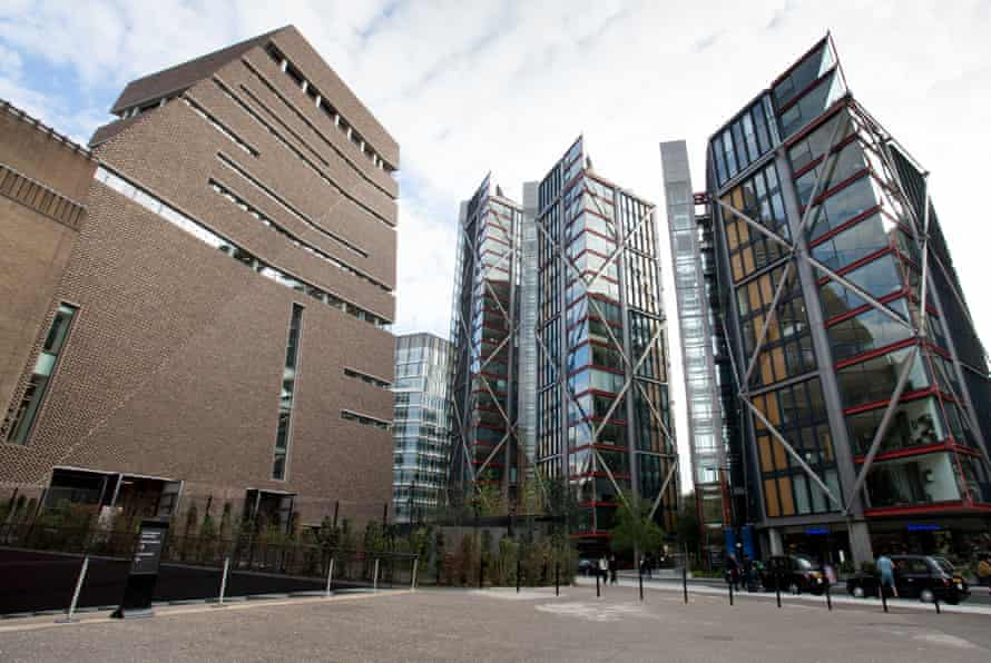 The Neo Bankside building, where some of the flats worth millions of pounds can be viewed from the viewing deck on the 10th floor of the new Switch House building.