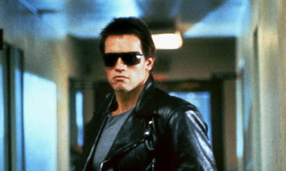 Retro robot ... Arnold Schwarzenegger in The Terminator.