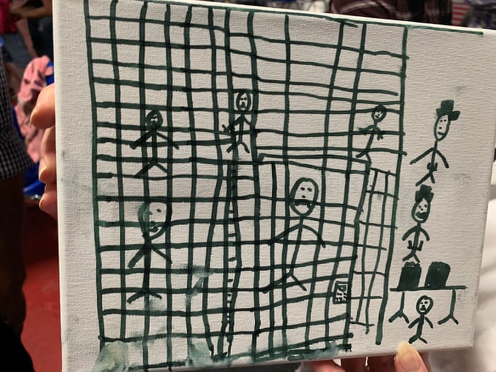 Migrant children's drawings depict 'horrific' conditions in cages