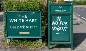 Sign for the White Hart pub