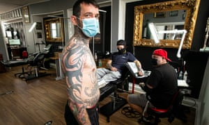 Pawel Sztachelski , theowner of Studio 13 tattoo parlour.