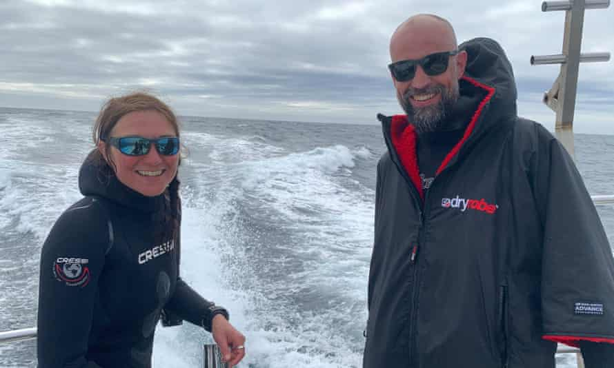 Richard Rees and Nicki Meharg of Celtic Deep on the boat.