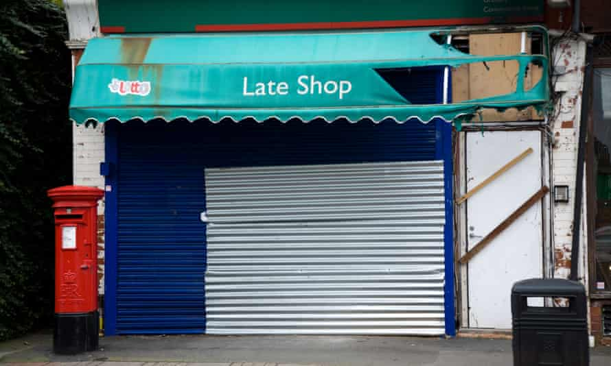 Abandoned and shop in Twickenham, south west London