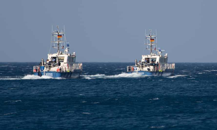 Frontex patrol ships in the Mediterranean